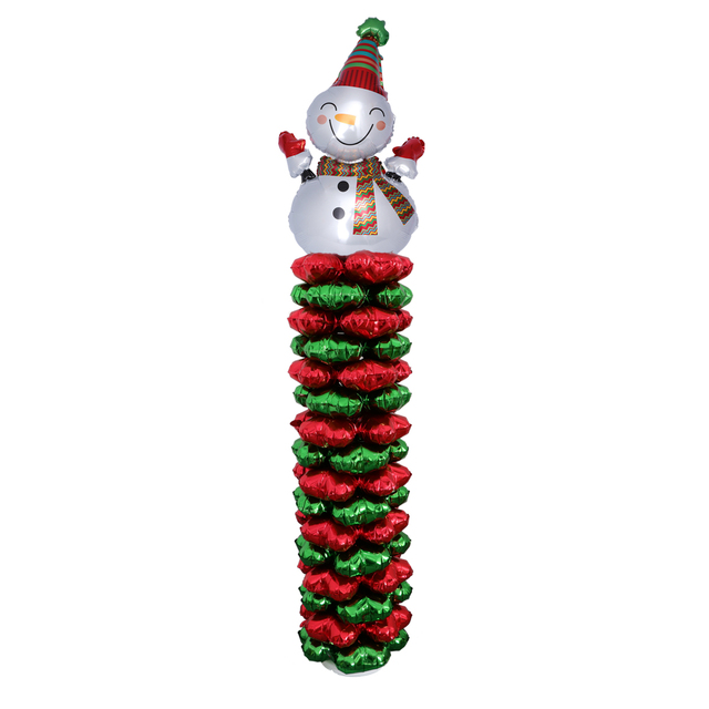 column balloons set decorative snowman balloon for christmas birthday wedding party celebration decoration supplies