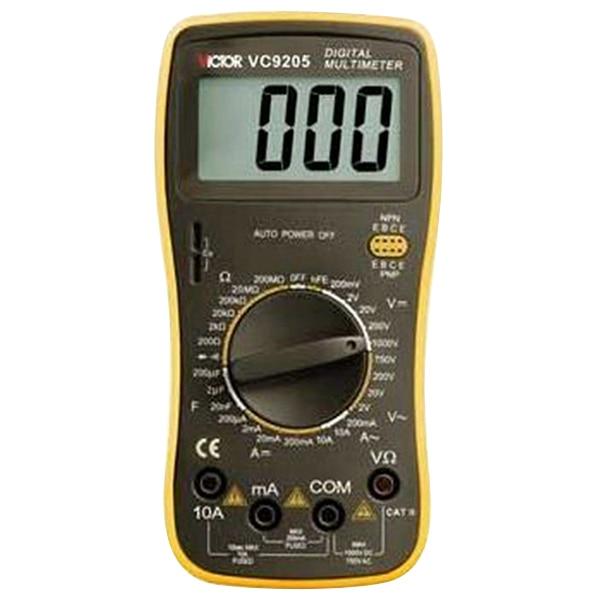 NFLC Victor VC9205 Resistance Testing Tool Volt Amp Ohm Meter Digital Multimeter Streamline