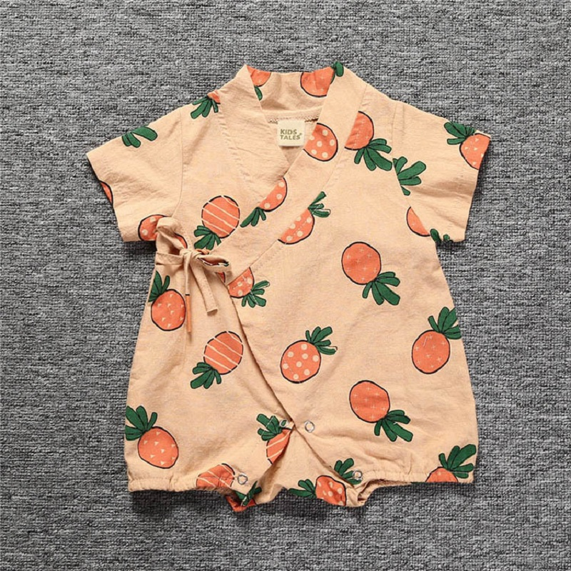 Baby Overalls Summer Newborn Girls Clothes Cotton Baby Clothes Roupas Bebe Short Sleeve Baby Girl Clothing Cute Romper