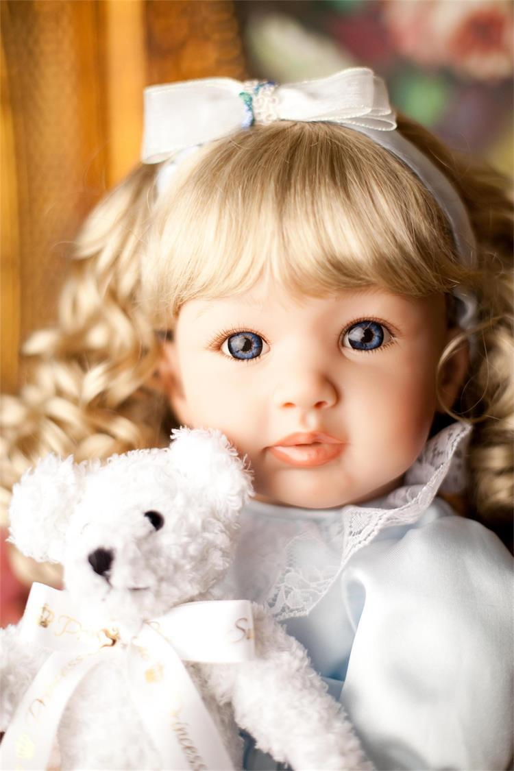 55cm Adora Reborn Toddler Girl Doll Blonde Curly Hair Reborn Boneca Baby Doll Xmas Birthday Gifts Brinquedos Princess Girl Doll 52cm shoulder length hair reborn toddler baby girl doll smling princess girl doll in flower dress girls toys birthday xmas gifts