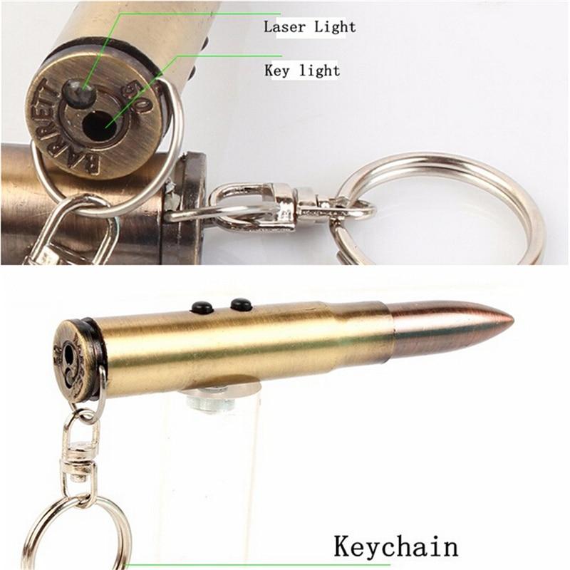1Pc Multifunction 4In1 Bullet Shaped Pen Survival EDC Laser+Light+Life-Saving Hammer+Ballpoint Self Defense Camping Kit Keychain