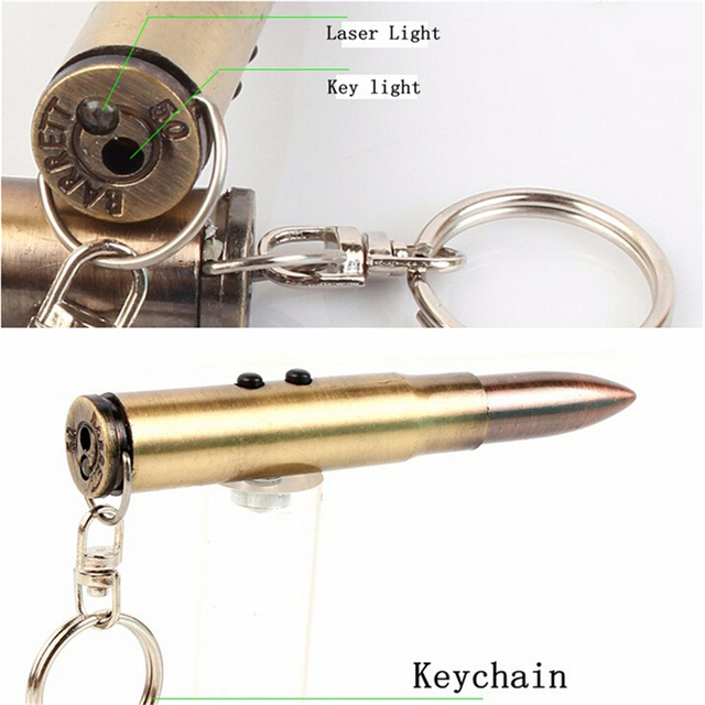 1Pc Multifunction 4In1 Bullet Shaped Pen Survival EDC Laser+Light+Life-Saving Hammer+Ballpoint Self Defense Camping Kit Keychain
