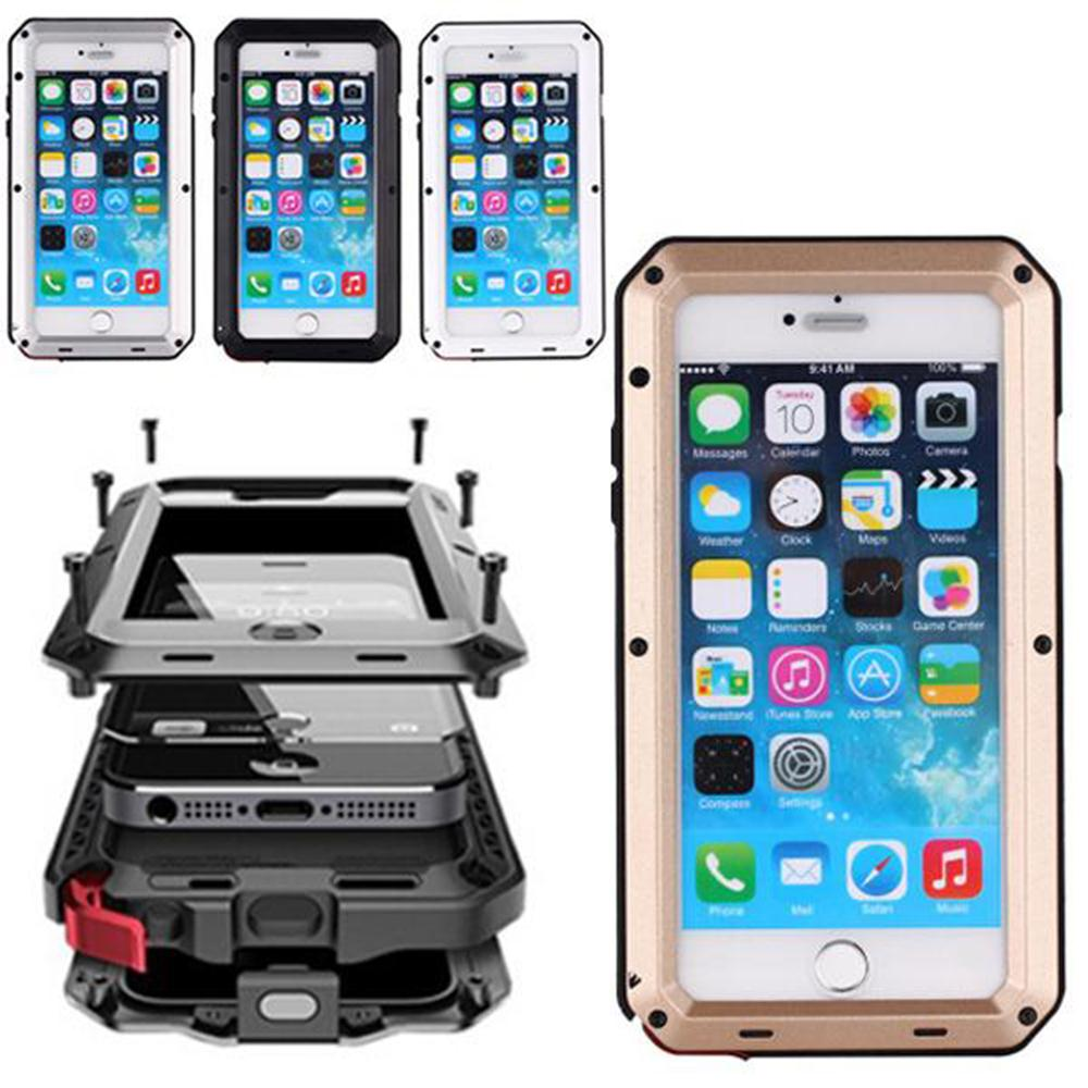 wholesale dealer e8fc4 0ae54 US $12.99 |Protector Future Armor Aluminum Gorilla Glass Metal Case For  iPhone 6 6 Plus High Impact Hybrid Cover Water proof Dust proof on ...