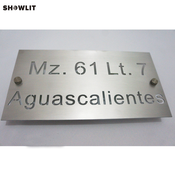 Silver Color Laser Cutting Family Number Sign Custom Made Available
