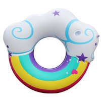 New Arrival Cute Adults Ring Float Rainbow Cloud Printed Swimming Ring big ring float