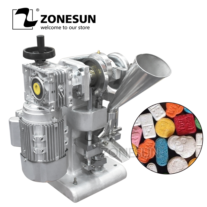 ZONESUN TDP 1 Max 10mm dia sugar tablet Making 5000 pc per hour 40KG/Low Noise Type milk Tablet Punch Press Machine DIY Mold zonesun manual single punch sugar tablet press machine sugar milk slice making tdp 0 hand operated mini type 20kg
