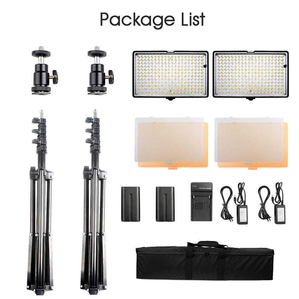 SAMTIAN 2Set Dimmable 3200-5600K 240 LED Video Photo Studio Light - Kamera och foto - Foto 2