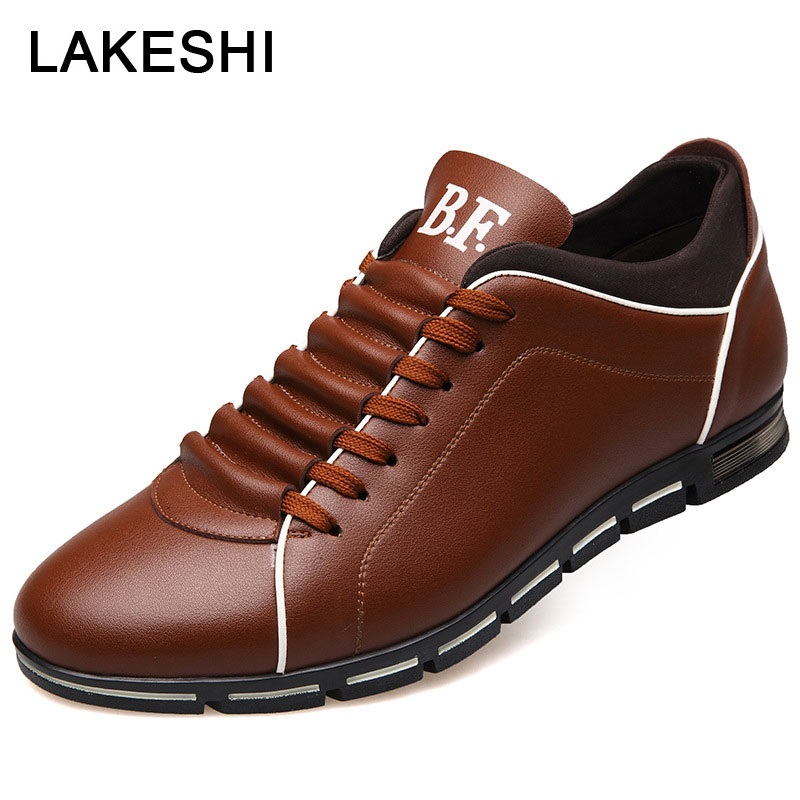 Plus Size 48 Men Casual Shoes Slip-on Male Shoes Adult Leather Shoes For Men Loafers Comfort Men Shoes Lace Up Men Sneakers Male