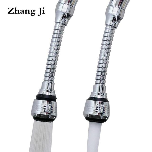 ZhangJi płuczki obrotowe przedłużony kran Aerator dyfuzor bełkotkę wody dysza natryskowa złącze kranu dysza akcesoria kuchenne