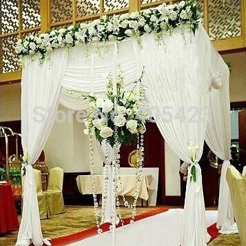 Weisse Farbe 1 8 2 4 Mt Hochzeit Quadrat Pavillons Baldachin Chuppah
