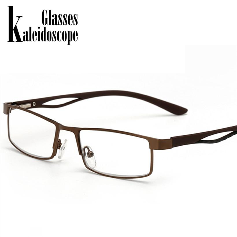 Gut Ausgebildete Kaleidoskop Gläser Vintage Lesebrille Frauen Männer Retro Legierung Rezept Brillen Rechteck Business Hyperopie Eyeglases Herren-brillen