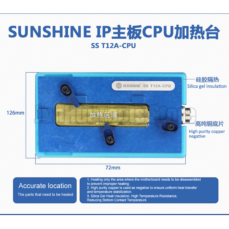 Tools : SS-T12A Heating Station With Heating Groove For iPhone 6 7 8 X XS MAX Motherboard CPU Desoldering Repair