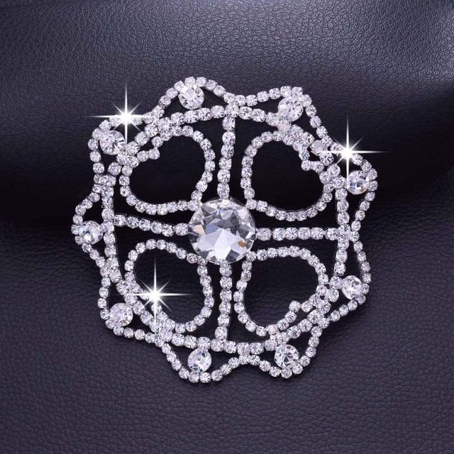 DIY 2pcs 9.8cm Crystal Rhinestone patches decoration for wedding dress  silver palting strass Applique Sew on Bridal YH-297 b900e237350e