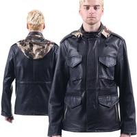 M65 кожаная куртка Военная униформа Стиль куртки с капюшоном для мужчин Leon мотоцикла пилот пальто армии США 101 силы куртка бомбер