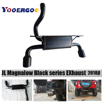 "for Jeep Wrangler & Wrangler Unlimited for auto product Mango Tail Black steel 5"" Dual Split Exhaust 2018"