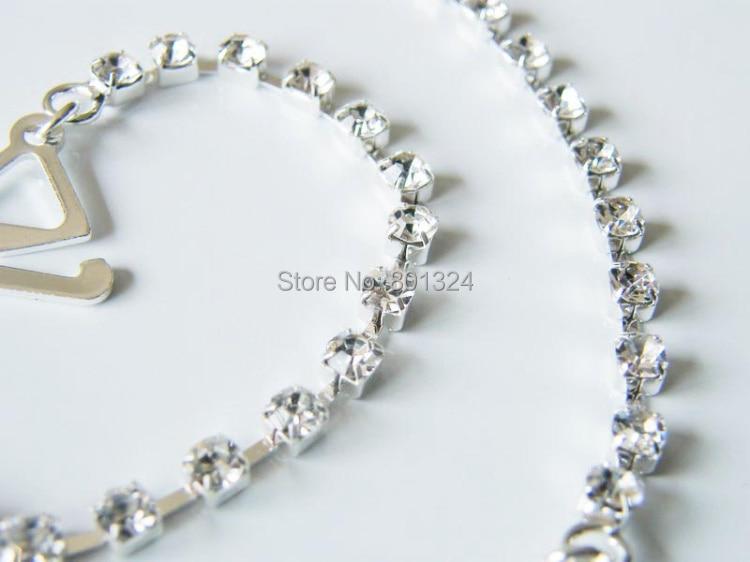 New Sexy Women's Ladies Adjustable Crystal Diamante Rhinestone Bra Shoulder Straps Nice 1 Pair 8
