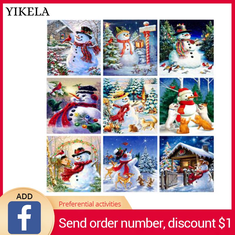 NEW Christmas Card 5D Diy Full Square Bead Drill Diamond Painting Cards Diamant Embroidery Cross Stitch Stickers