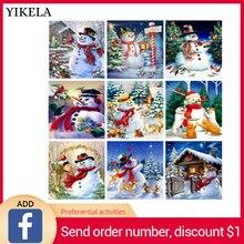 Новые рождественские карты 5D Diy Полный Квадратные бусины дрель бриллиантовый рисунок Рождество карты 5D алмазная вышивка крест наклейки «Стич»