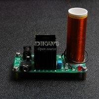 Diy Kits 15W Mini Music Tesla Coil Plasma Speaker Tesla Wireless Transmission DC 15 24v