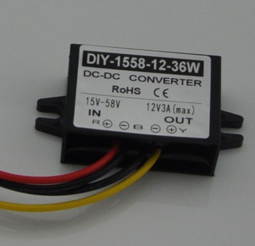 DC 24V 36V 48V (15V-58V) to 12V 3A 36W DC-DC Converter Step Down Buck Module Car коллектор 4 выхода 3 4 х 1 2 нр