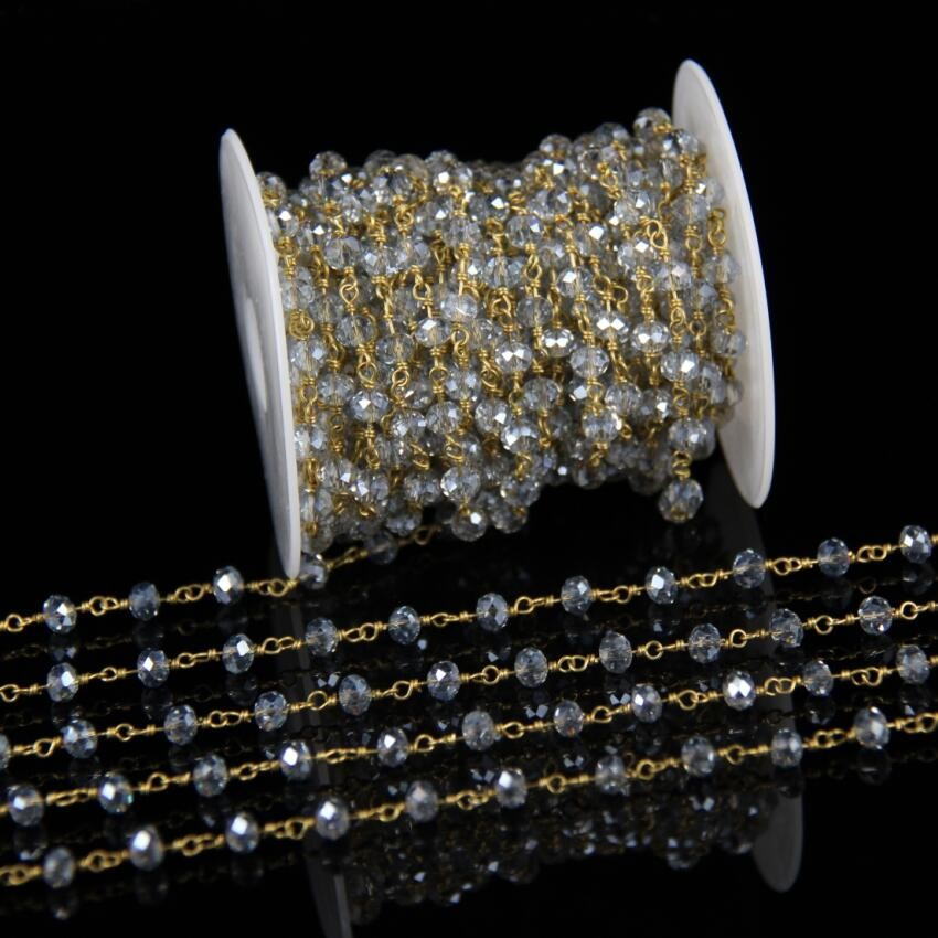 Chrysolite Glass Pendant GG065-PR-CS Polished Original Rhodium Plated  2 Pcs Jewelry Craft Supplies