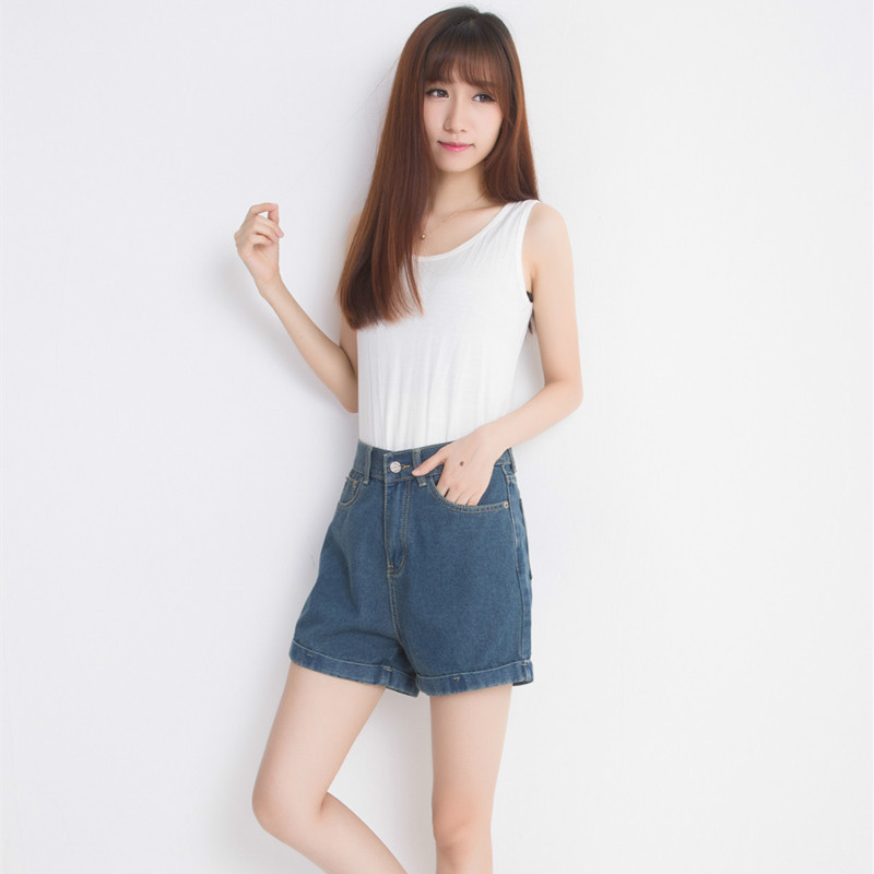 Free Shipping 2015 New Fashion Shorts Women Short Jeans Cotton Loose Casual Joker Denim Shorts Plus Size Hot Sales E41