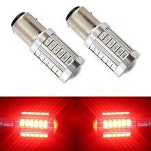 1 шт., светодиодный автомобильный светильник BAY15D P21/5 Вт BAZ15D P21/4 Вт BAW15D PR21/5 Вт 33 SMD 5630, белый, красный, 12 В, стоп-сигнал, ДХО, лампа заднего фонаря.