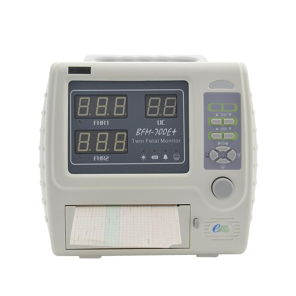 Portable fetal monitor for twins fetus heart rate monitor CTG machine ultrasound prenatal monitor BFM 700E