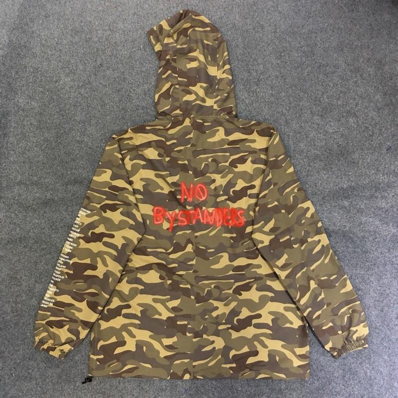 19ss Travis Scott AstroWorld veste hommes femmes souriant terre Streetwear Camouflage veste coupe-vent Astroworld Bomber veste