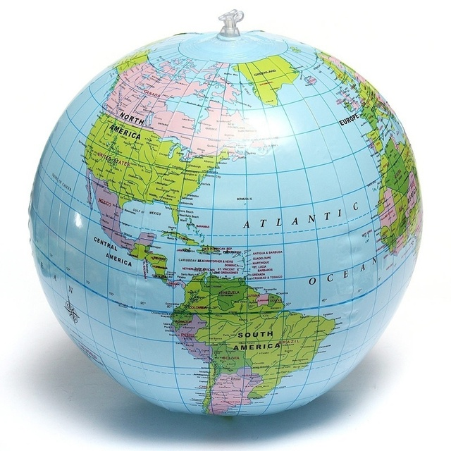 Top sale 40cm inflatable world globe teach education geography toy top sale 40cm inflatable world globe teach education geography toy map balloon beach ball color gumiabroncs Images