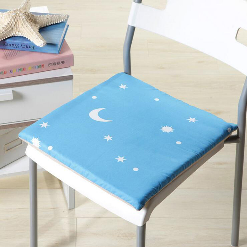 Delightful Hot 4 Colors 40cm Washable Moon And Star Printed Cloth Seat Mat Home  Cartoon Chair Cushion