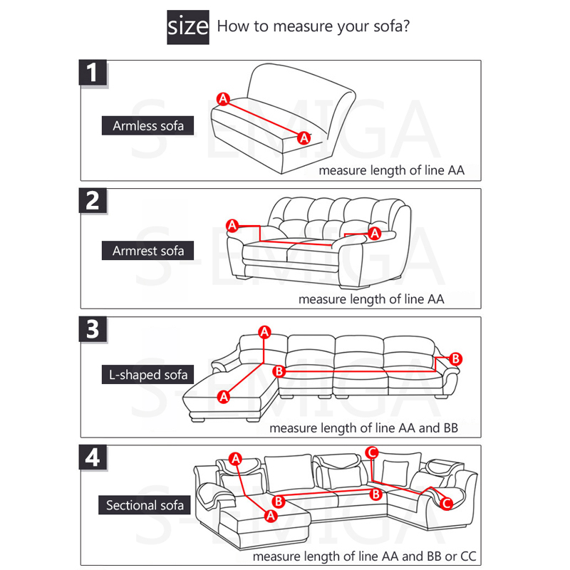 Image 2 - Grey Color Elastic Couch Sofa Cover Loveseat Cover Sofa Covers for Living Room Sectional Sofa Slipcover Armchair Furniture Cover-in Sofa Cover from Home & Garden