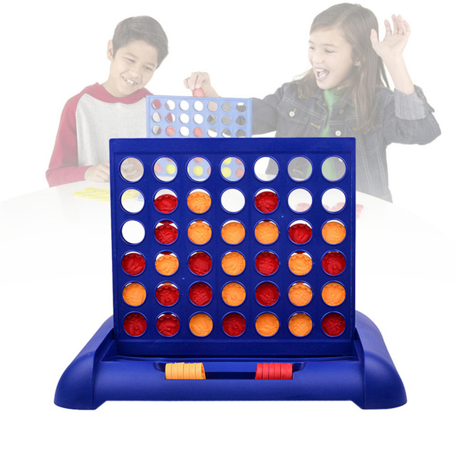 New Interesting Kids Board Game Connect Four In a Line Board Game Classic Grid Board Game Children Educational Intelligent
