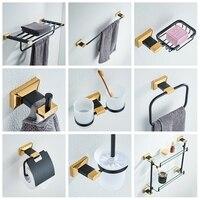 Новый Медь черный бронзовый и золото высокого класса Аксессуары для ванной комнаты кулон Полотенца стойки Стойки Полотенца стойки Ванная к