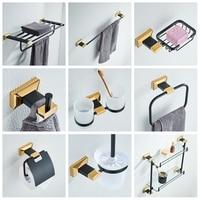 New Copper Black Bronze & Gold High end Bathroom Accessories Pendant Towel Rack Racks Towel Rack Bathroom Set YM119