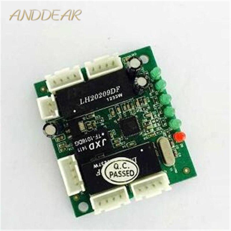 OEM mini module design ethernet switch circuit board for ethernet switch module 10/100mbps 5/8 port PCBA board OEM Motherboard