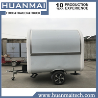 Фургон для продажи еды прицеп для еды белый 2300x1650x2300 мм