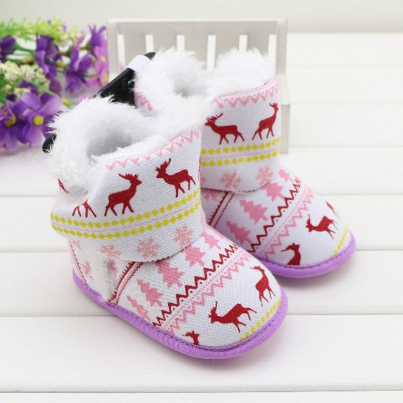 Babyschuhe Super Plüsch Warme Winter Baby Erste Wanderer Kleinkind Handmade Fleece Weihnachten Booties Baby Schnee Stiefel Krippe Schuhe Für Jungen Mädchen Durchblutung Aktivieren Und Sehnen Und Knochen StäRken