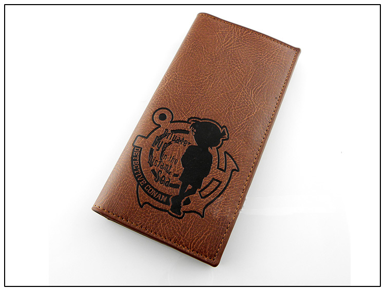Brown Japanese Anime Detective conan Private Eye in the Distant Sea PU wallet our distant cousins