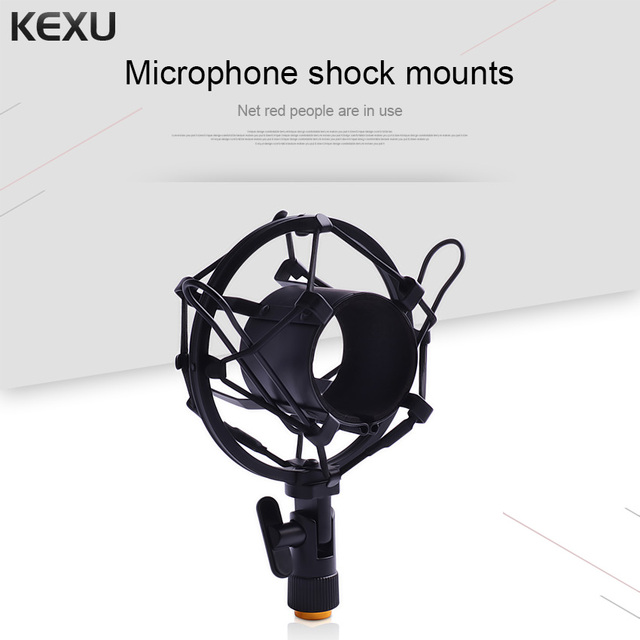 Microphone Stand Mic Shock Mount Bracket Holder Black / Silver Universal Microphone Shock Mount Clip Holder Metal Shock Mount