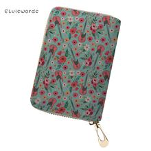 ELVISWORDS Pretty Horse Printing Card & Id Holders Women Wallet Case Covers for Passports Female Travel Document Pochette
