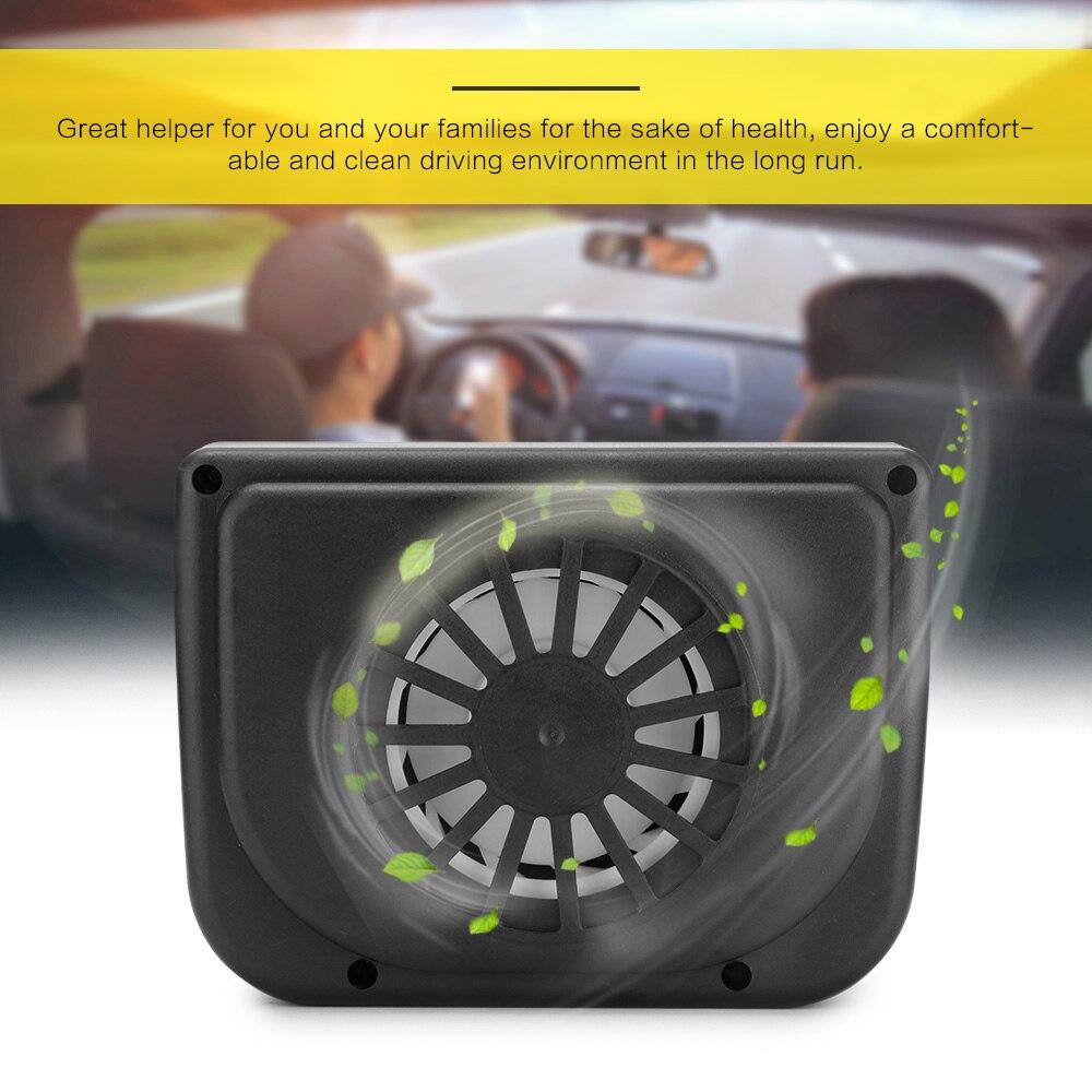 SOLAR POWERED HEAT WINDOW FAN VENTILATOR AUTO COOL PET AIR VENT CAR VAN 2017 BE