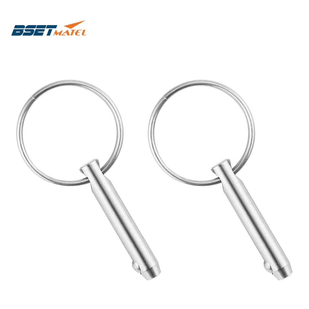 Quick Release Pin with Ring 4 Pack GANGUOLA Bimini Top Pins Quick Release Pin 1//4 with Lanyard for Boat Bimini Top Deck Hinge Or Jaw Slide Clamp Bracket Marine Hardware