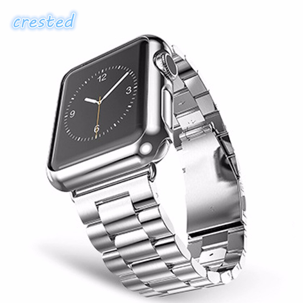 CRESTED Three bead  Stainless Steel Watch Band Strap for Apple Watch Band 42mm 38mm  for iwatch Watch Chain брюки спортивные adidas performance adidas performance ad094emuoc35