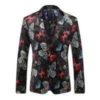 BFSBOYS HOT 2017 New Fashion Brand Men Blazer Men Trend Casual Suit Jacket Men Slim Fit