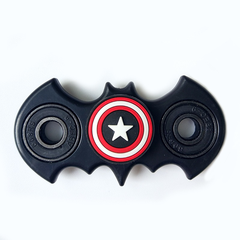 New Fidget Spinner Batman Shape Antistress EDC Captain Hand Finger Spinner Relieve Stress Austism ADHD America Handspinner Toys