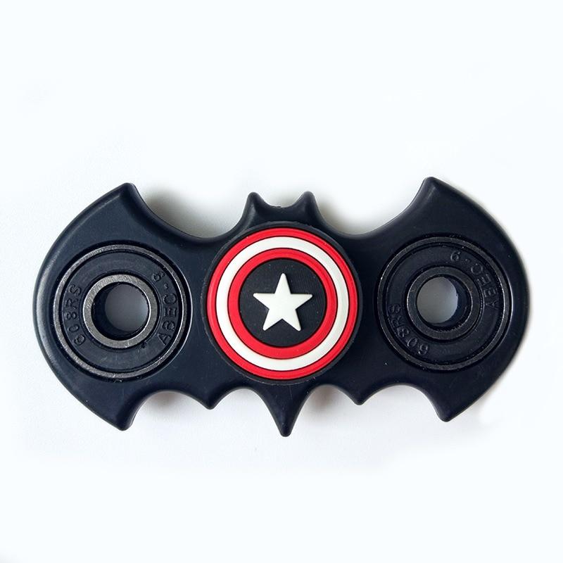 New Fidget Spinner Batman Shape Antistress EDC Captain Hand Finger Spinner Relieve Stress Austism ADHD America Handspinner Toys