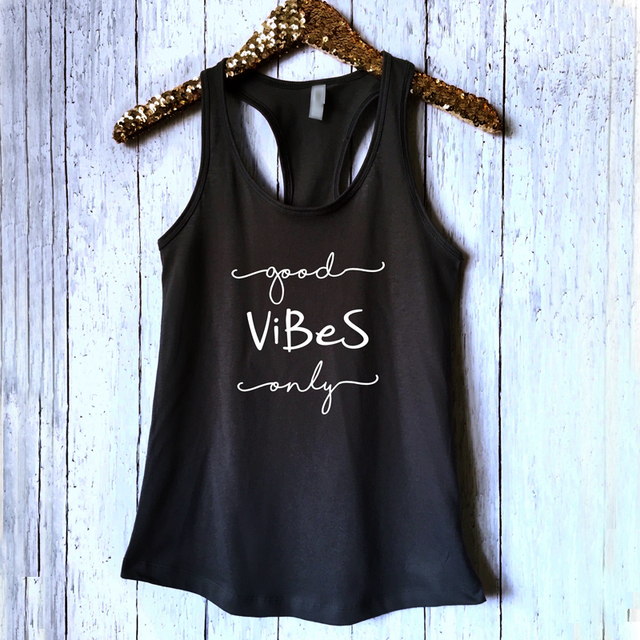 Women Good Vibes Only Tank...