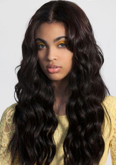 Естественной Границе Волос 150% Плотность Девственницы Индийские Длинные свободные объемная волна человеческие Волосы Бесклеевой Шелковый Топ 4 ''x 4'' Полный Шнурок Человеческих Волос парики