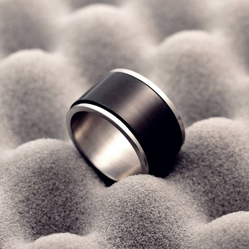 Le Baiser 12MM Mens 316 Stainless Steel Rolling Ring Ring Titanium Steel Engagement Rolling Ring